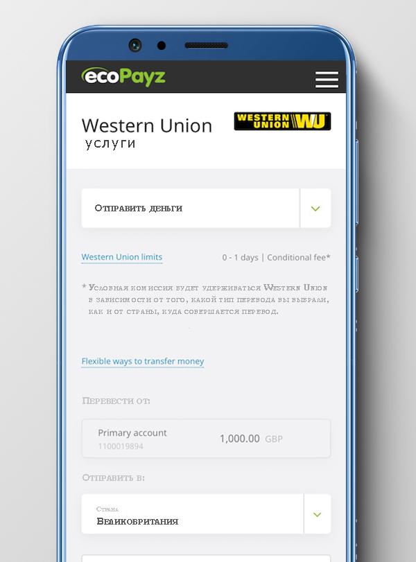 Мобильное приложение ecoPayz: юзабилити