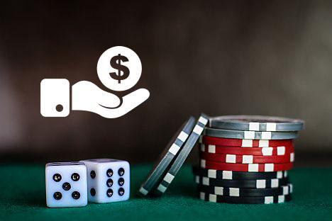 Покерные фишки и кости - налог
